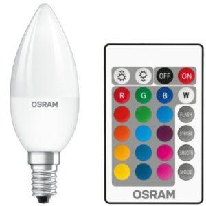 Osram LED Kertepære m/Fjernbetjening - E14