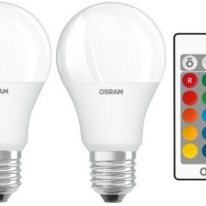 Osram LED Pære m/Fjernbetjening - E27 (2-pk)
