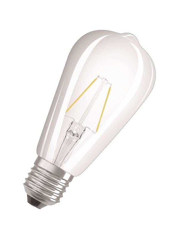 Osram LED pære Edison 2,5W/827 (25W) filament klar E27