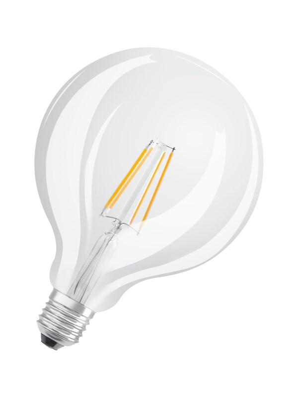 Osram LED pære Globe 4W/827 (40W) filament klar E27