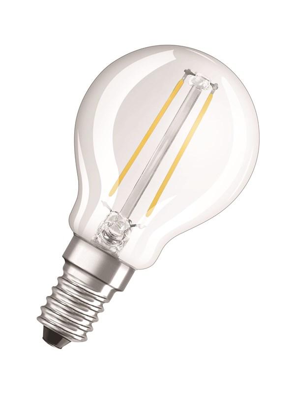 Osram LED pære Krone 1,5W/827 (15W) filament klar E14