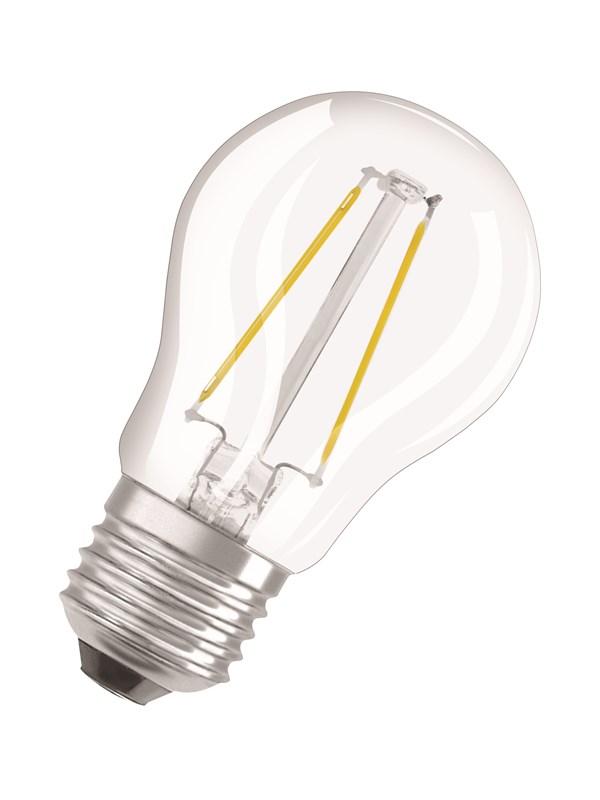 Osram LED pære Krone 1,5W/827 (15W) filament klar E27