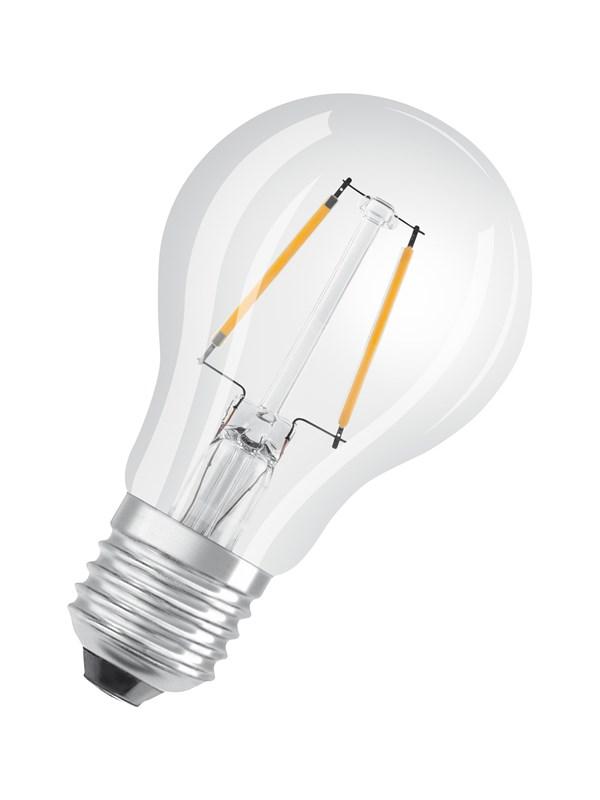 Osram LED pære Standard 2,5W/827 (25W) filament klar E27