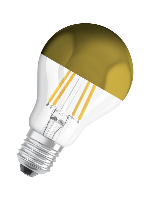 Osram LED pære Standard 7W/827 (50W) filament klar topforspejlet E27