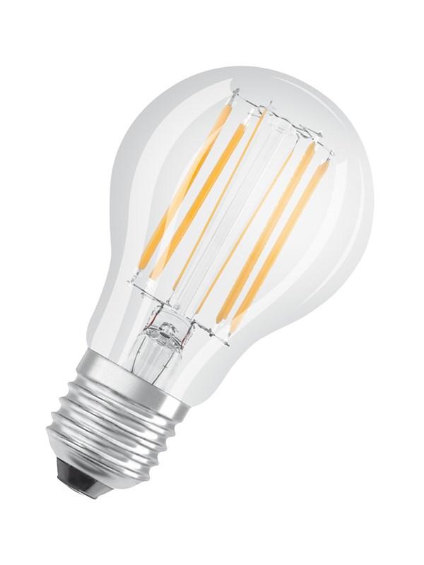 Osram LED pære Standard 9W/827 (75W) filament klar dæmpbar E27