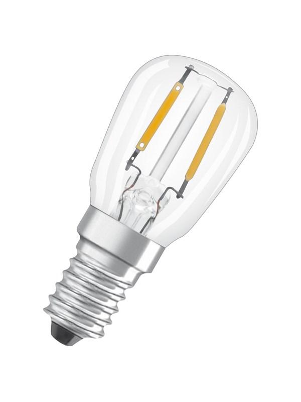 Osram LED pære T26 2,2W/827 (12W) filament klar E14