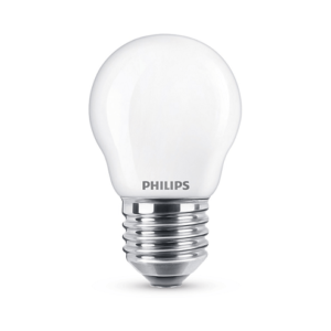 Pære LED 4,3W Glas Krone (470lm) E27 - Philips