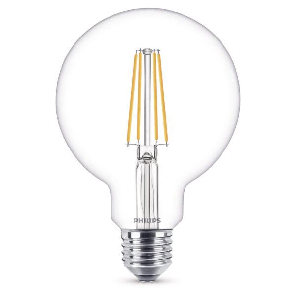Pære LED 7W (806lm) Filament Globe Ø93 E27 - Philips