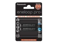 Panasonic eneloop pro BK-4HCDE/2BE - Batteri 2 x AAA - NiMH - (genopladelige) - 930 mAh