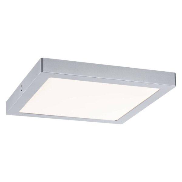 Paulmann Abia LED-loftlampe med 30 x 30 cm, krom