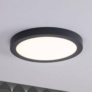 Paulmann Abia LED-panel, rundt, Ø 30 cm, mørkegråt