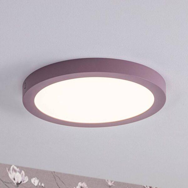 Paulmann Abia LED-panel, rundt, Ø 30 cm, syren