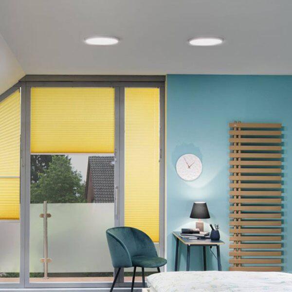 Paulmann Atria LED-panel, roségold, rundt, Ø 30 cm