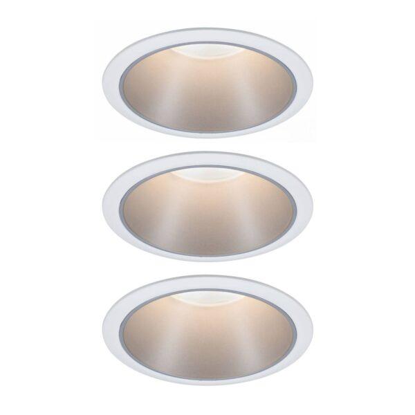 Paulmann Cole LED-spotlight, sølv-hvid, 3 stk.