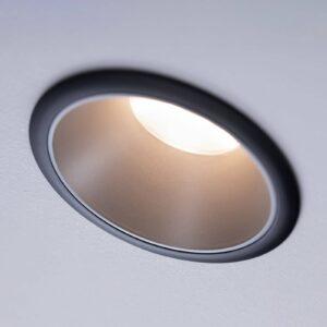 Paulmann Cole LED-spotlight, sølv-sort