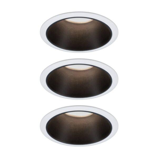 Paulmann Cole LED-spotlight, sort-hvid, 3 stk.