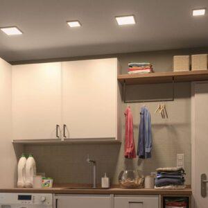 Paulmann LED-panel Areo 3.000 K kantet 11,8cm hvid