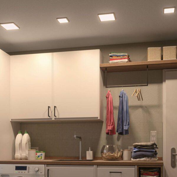Paulmann LED-panel Areo 3.000 K kantet 17,5cm hvid