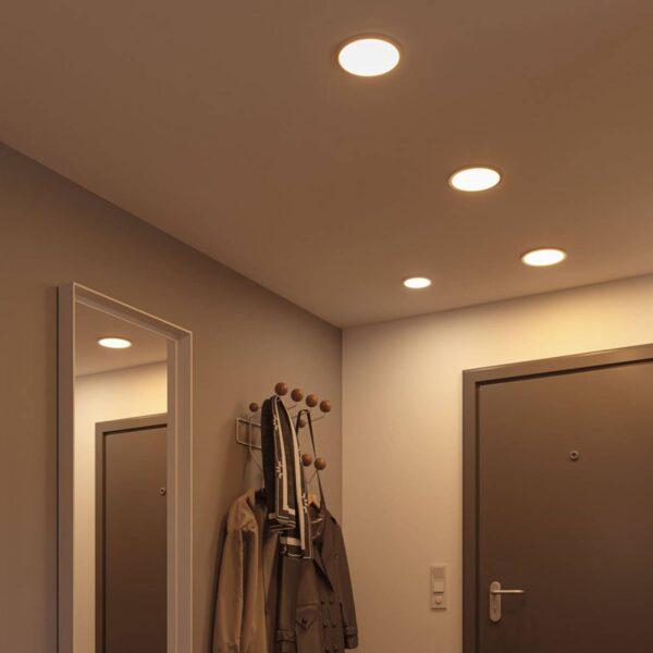 Paulmann LED-panel Areo 3.000 K rund krom 11,8cm