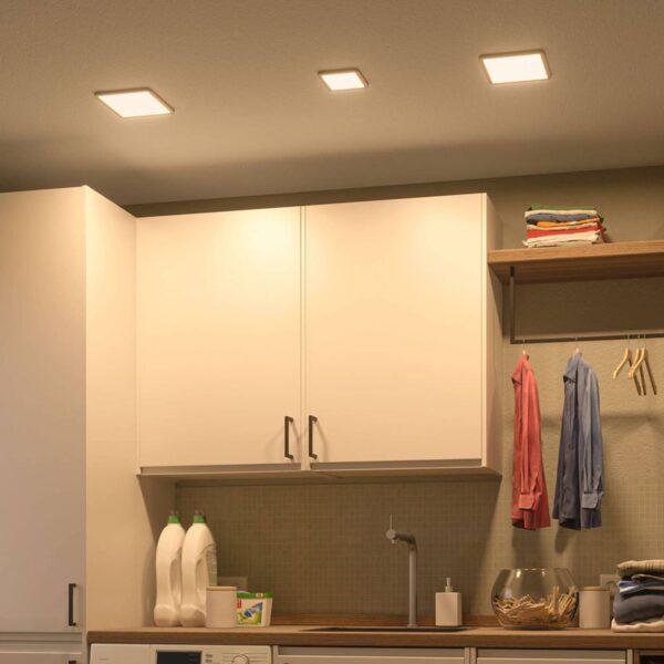 Paulmann LED-panel Areo 4.000 K kantet 11,8cm hvid