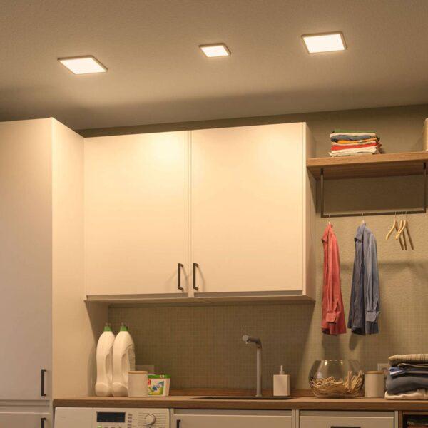 Paulmann LED-panel Areo 4.000 K kantet 17,5cm hvid