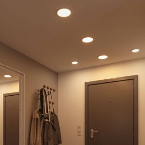 Paulmann LED-panel Areo 4.000 K rund hvid 11,8 cm