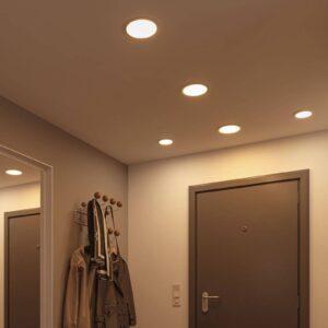 Paulmann LED-panel Areo 4.000 K rund krom 11,8cm