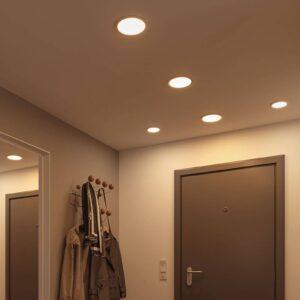 Paulmann LED-panel Areo 4.000 K rund krom 17,5cm