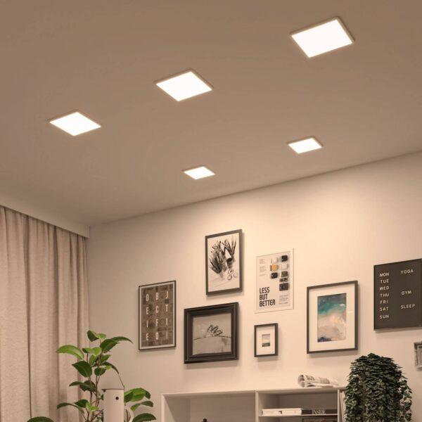 Paulmann LED-panel Areo dimtowarm kantet hvid 23cm
