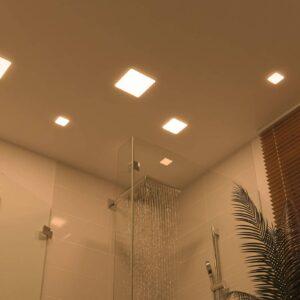 Paulmann LED-panel Veluna 3.000K kantet, 12,5cm