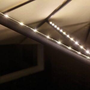 Paulmann lysstribe til parasol, flytbar, 4 x 40cm