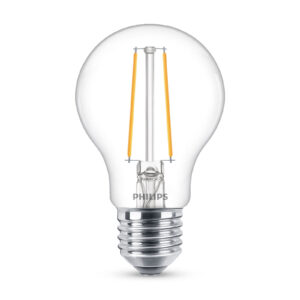 Philips Classic LED-pære E27 A60 1,5W 2.700K, klar