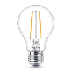 Philips Classic LED-pære E27 A60 2,2W klar 2.700K