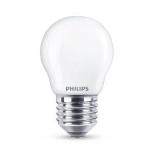 Philips Classic LED-pære E27 P45 6,5W 2.700K, mat
