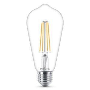 Philips E27 LED-pære filament 4,3W 2.700K