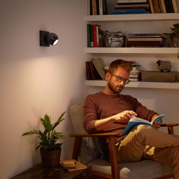 Philips Hue Buckram LED-spot sort udvidelse