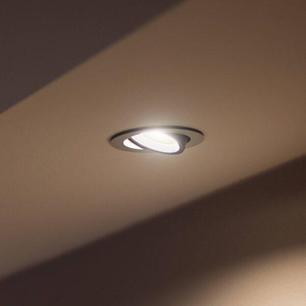 Philips Hue Centura LED-indbygningsspot rundt alu