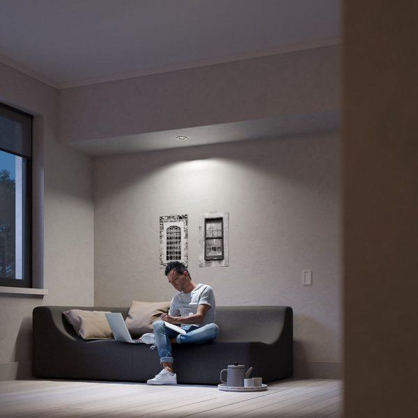 Philips Hue Milliskin LED-spot rund, hvid