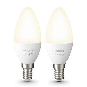 Philips Hue White 5,5 W E14 LED-kertepære, 2 stk