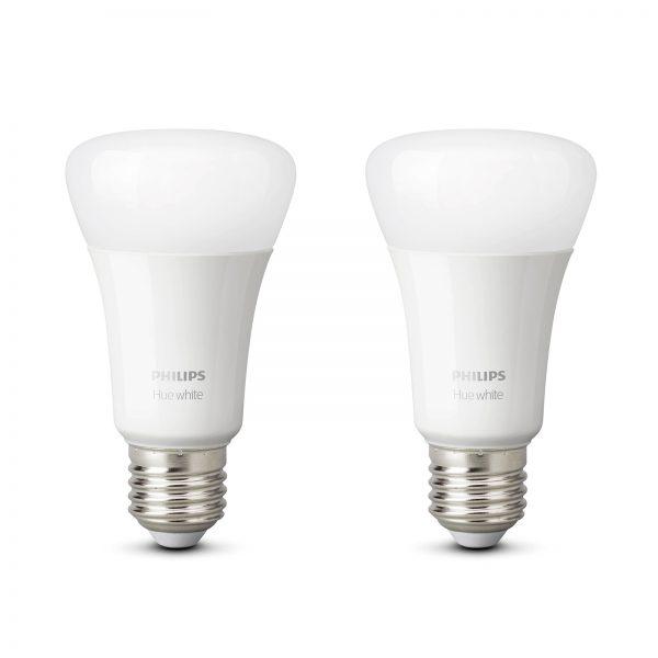 Philips Hue White 9 W E27 LED-pære, sæt med 2