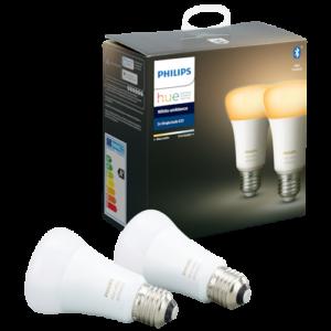Philips Hue White Ambiance LED-pære A60 E27 - 2-pak