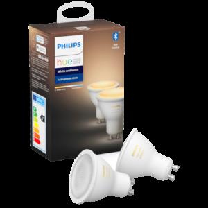 Philips Hue White ambiance LED-pære GU10 - 2-pak