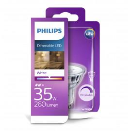 Philips LED Classic 35W spot glas GU10 hvid dæmpbar 1 stk - 8718696721636