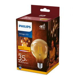 Philips LED Classic Filament 35W globe E27 guld ikke dæmpbar 1 stk - 8718699673604