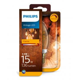 Philips LED Classic Spiral Filament 15W kerte E14 guld dæmpbar 1 stk - 8718699676131
