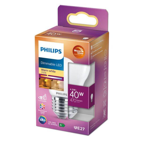 Philips LED Classic WarmGlow E27 P45 4,5W mat