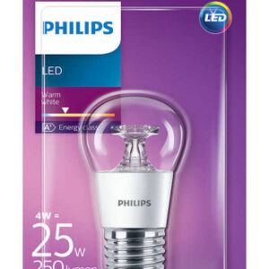 Philips LED E27 Kronepære-4W = 25W-Klar