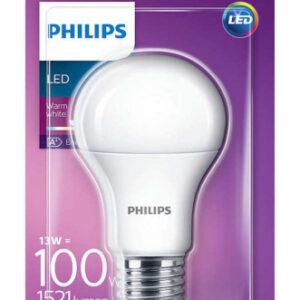 Philips LED E27 Standardpære-13W = 100W-Mat
