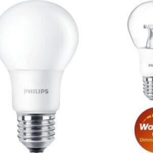Philips LED E27 Standardpære - DÆMPBAR-8W = 60W-Mat