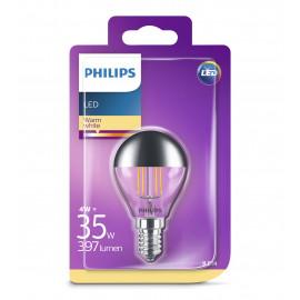 Philips LED Filament Topforspejlet 35W Krone E27 klar ikke dæmpbar 1 stk - 8718696750827